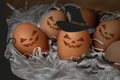 Halloween eggs Stock Photo
