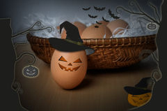 Halloween eggs Stock Photos