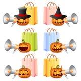 Halloween-Einkaufen Stockbild