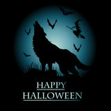 Halloween-Einladungskarte Lizenzfreies Stockbild