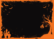 Halloween element with border and background template Stock Images