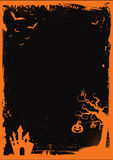 Halloween element with border and background template Royalty Free Stock Images