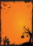 Halloween element with border and background template Stock Image