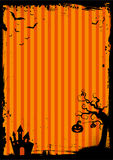 Halloween element with border and background template Stock Photo