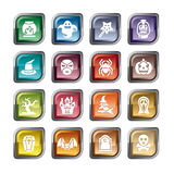 Halloween Element Icons Stock Images