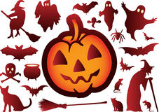Halloween element set Stock Image