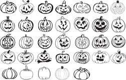 Halloween element set Royalty Free Stock Photos