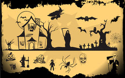 Halloween element set Royalty Free Stock Photo