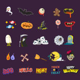 Halloween element set. sticker concept -  Royalty Free Stock Images