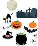 Halloween-Elemente Lizenzfreie Stockfotografie