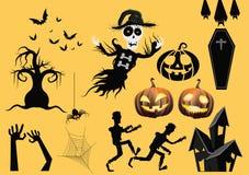 Halloween-elementen royalty-vrije illustratie