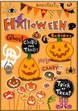 Halloween-elementen Royalty-vrije Stock Foto's