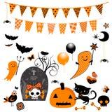 Halloween-elementen Royalty-vrije Stock Foto