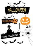 Halloween-elementen Royalty-vrije Stock Fotografie