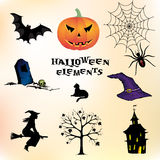 Halloween elements. Set of different Halloween elements Stock Image