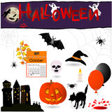 Halloween elements. Royalty Free Stock Images