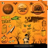 Halloween elements Royalty Free Stock Photos