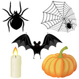Halloween elements Stock Images