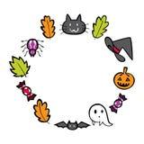 Circle halloween vector stock illustration