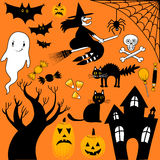 Halloween Elements Collection Royalty Free Stock Images