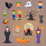 Halloween Elements And Icons Stock Images
