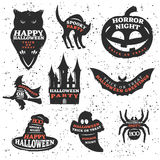 Halloween Elements And Quotes Set Stock Image