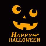 Halloween. Elements. Vector illustration black background ghost Stock Image