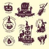 Halloween-emblemen vector illustratie