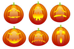 Halloween emoticon collection Royalty Free Stock Image