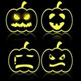 Halloween-emotie van pompoen Royalty-vrije Stock Foto