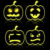 Halloween emotion of pumkin Royalty Free Stock Photo