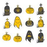 Halloween emotions set Royalty Free Stock Photos