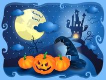 Halloween en azul Imagen de archivo libre de regalías