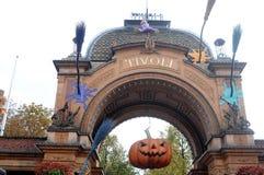 HALLOWEEN EN EL JARDÍN DE TIVOLI Foto de archivo libre de regalías