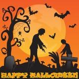 Halloween en la celebración oscura de la noche Imágenes de archivo libres de regalías