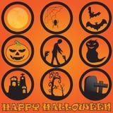 Halloween en la celebración oscura de la noche Imagen de archivo libre de regalías