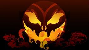 halloween En pumpa för ferie royaltyfri illustrationer
