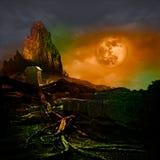 Halloween-Entwurfs-Urlaubsparty-Hintergrund Copyspace für Text Lizenzfreies Stockbild