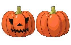 Halloween-Ernteerntedankfestgemüse des Kürbises realistisches Lizenzfreie Stockfotos