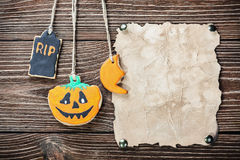 Halloween et biscuits faits maison photos libres de droits