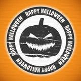 Halloween-etiket Stock Foto