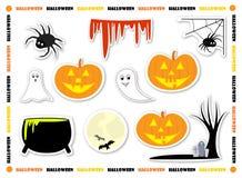 Halloween etiketter Arkivfoton