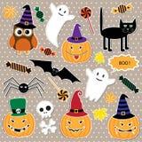 Halloween etiketter Royaltyfri Foto