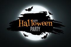 halloween Ett festligt baner för din design slagträn runt om månen också vektor för coreldrawillustration vektor illustrationer