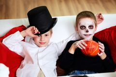 Halloween evening Royalty Free Stock Photo