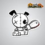 Halloween evil dog voodoo doll pop art comic Stock Photos