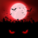 Halloween evil eyes background Royalty Free Stock Images