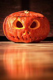 Halloween evil face pumpkin Royalty Free Stock Image