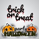 Halloween evil pumpkin voodoo doll pop art Stock Image