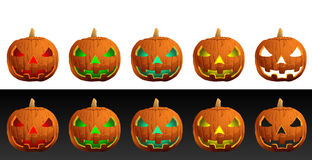 Halloween Evil Pumpkins Royalty Free Stock Image